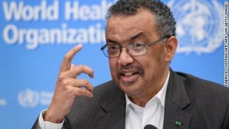 World Health Organization (WHO) Director-General Tedros Adhanom Ghebreyesus speaks during a press conference following a WHO Emergency committee to discuss whether the Coronavirus, the SARS-like virus, outbreak that began in China constitutes an international health emergency, on January 30, 2020 in Geneva.