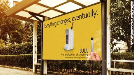 A Juul advertisement featured in the complaint.
