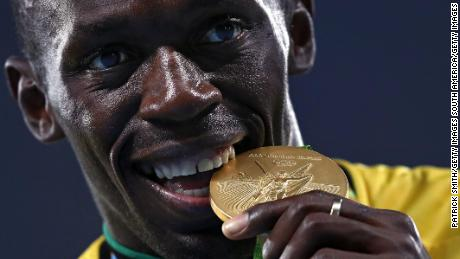 Usain Bolt is the only athlete to win three consecutive 100m and 200m Olympic golds.