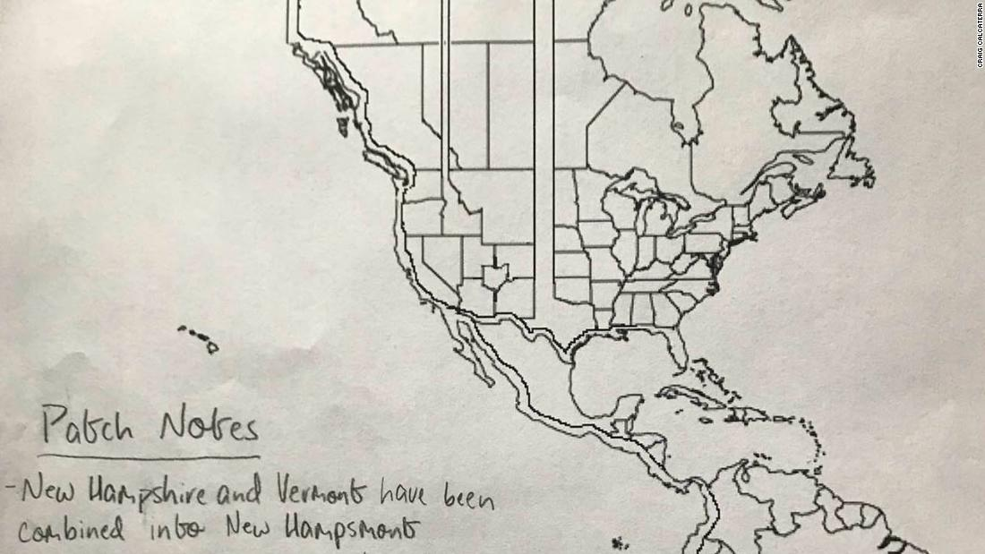 High School Student S Redrawn Map Of The Us Features Ohio 2 Long