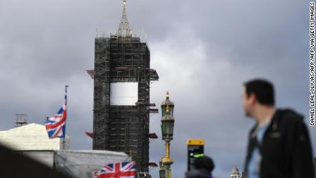 Il Big Ben è impegnato nelle impalcature dal 2017.