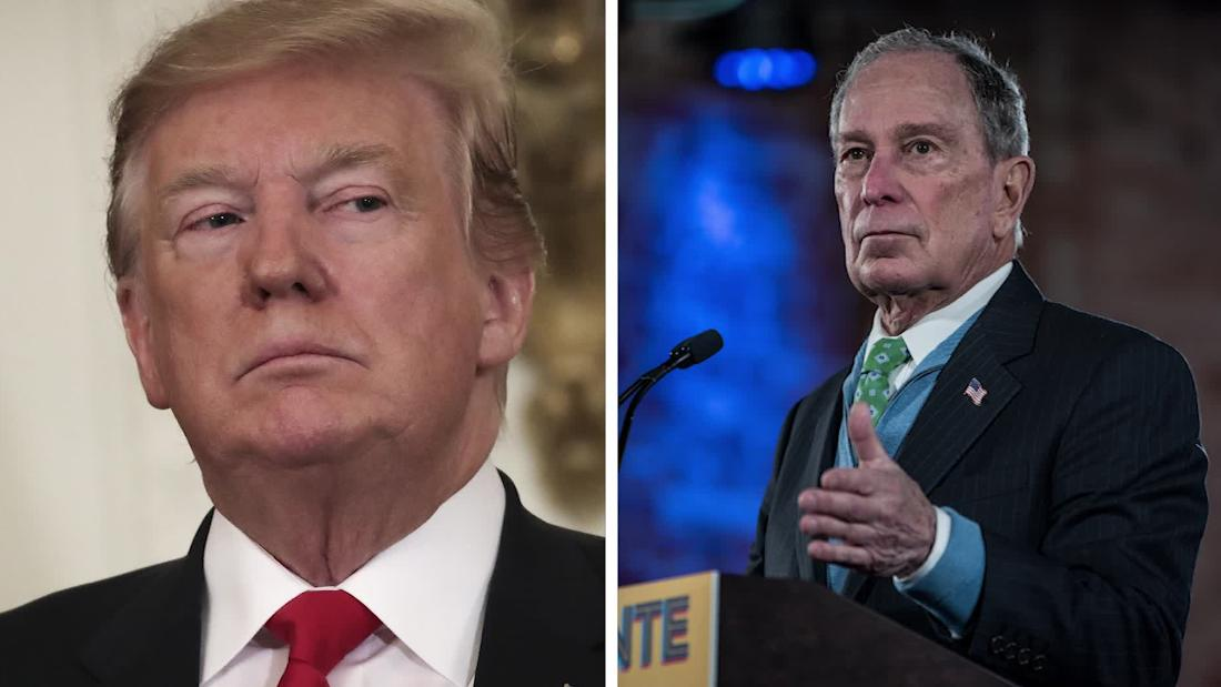 Bloomberg claps back after Trump insults his height