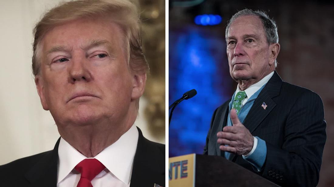 Bloomberg klatscht zurück, nachdem Trump Beleidigungen seiner Höhe