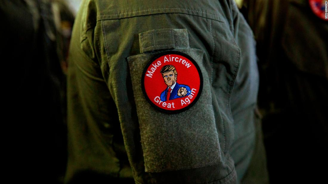 Navy sailors reprimanded over 'Make Aircrew Great Again' patches