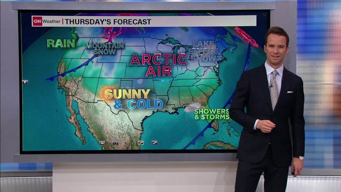 Cold air slams Central US to start weekend