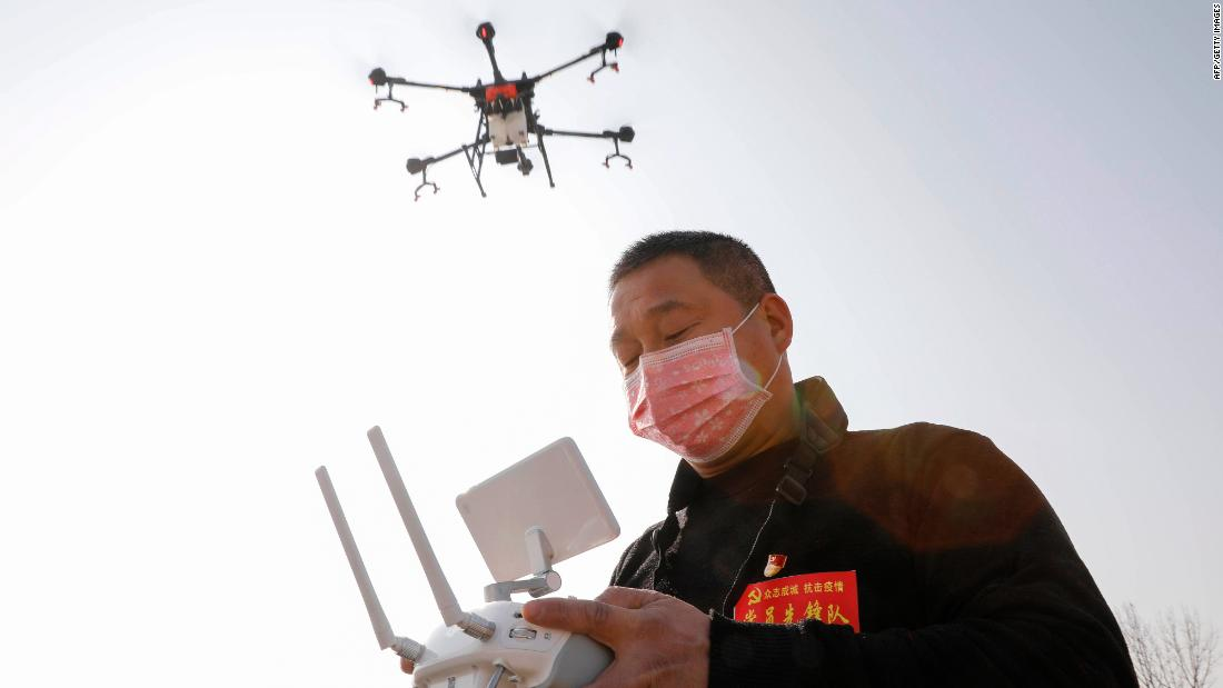 Drones. Disinfecting robots. Supercomputers. Coronavirus is a test for China's tech industry