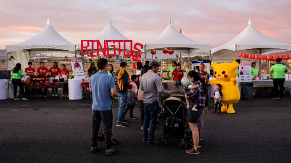 An Asian Night Market kicks off on a cool fall evening in Las Vegas.
