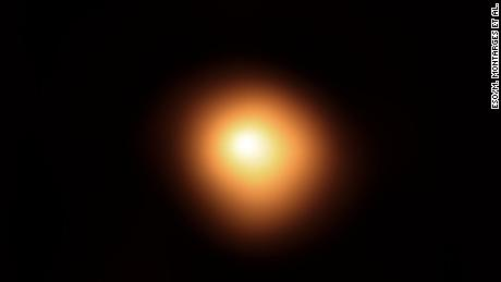 The red supergiant star Betelgeuse, in the constellation of Orion, has been undergoing unprecedented dimming. This stunning image of the star's surface was taken with the SPHERE instrument on ESO's Very Large Telescope in January 2019, before the star started to dim. When compared with the image taken in December 2019, it shows how much the star has faded and how its apparent shape has changed.