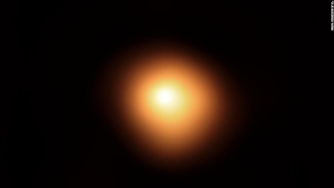The red supergiant star Betelgeuse, in the constellation of Orion, has been undergoing unprecedented dimming. This image was taken in January using the European Southern Observatory's Very Large Telescope.