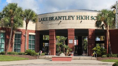 Lake Brantley High School in Altamonte Springs, Florida, was put on lockdown Friday morning because of a threat on social media, the school said.