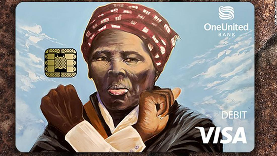 It looks like Harriet Tubman is throwing up the 'Wakanda Forever' sign on this new debit card