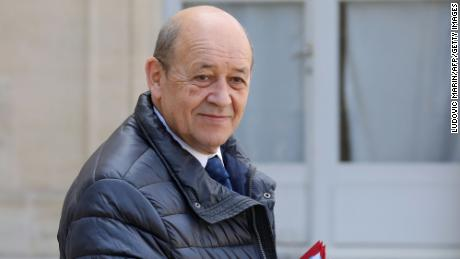 "The real Jean-Yves Le Drian: ""You can't impersonate me, if you do then you go to prison,"" the defense minister said last year."