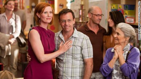 "Cohen was best known for her role as Magda, the housekeeper/nanny employed by Miranda Hobbes, played by Cynthia Nixon, left, in HBO's ""Sex and the City."""