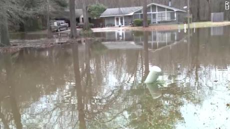 Yard and roads were flooded in the Cypress Trail area of northeastern Jackson on Thursday.