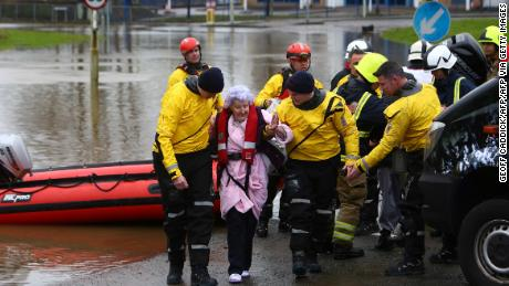 Residents in South Wales were evacuated by emergency services.