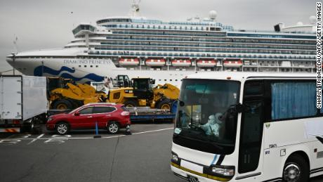 The Diamond Princess cruise ship has about 3,600 people quarantined onboard due to fears of the noval coronavirus.