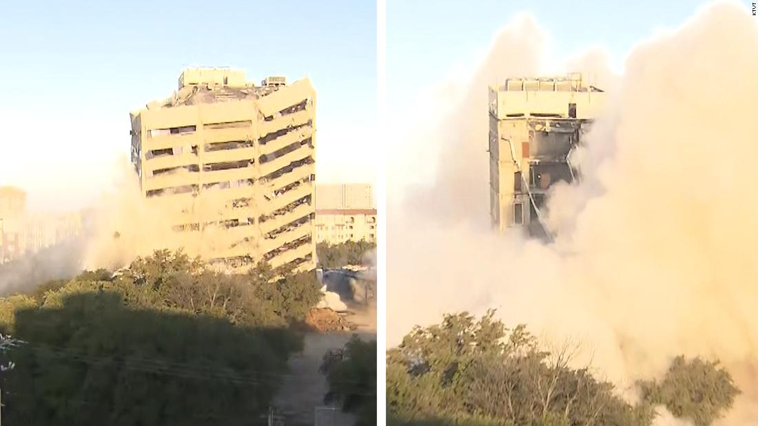 Implosion fails to take down entire Dallas building