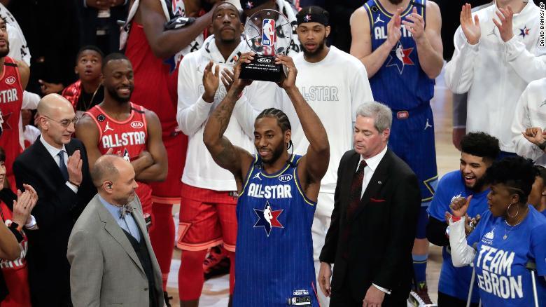 Kawhi Leonard is MVP of 2020 NBA All-Star Game