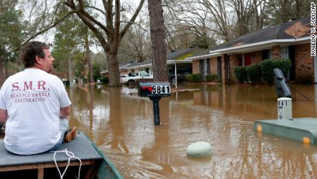 Neighborhoods in Mississippi were under water this weekend as the Pearl River swelled to historic levels.