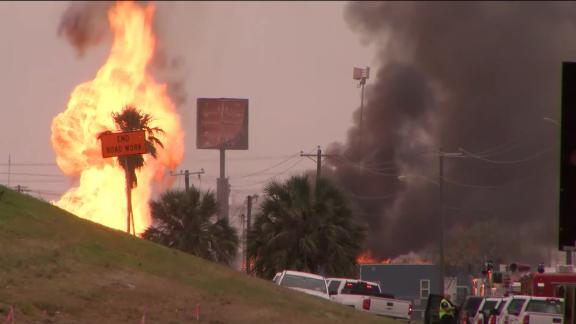 150 Foot Flames Shot From Ruptured Gas Line In Corpus