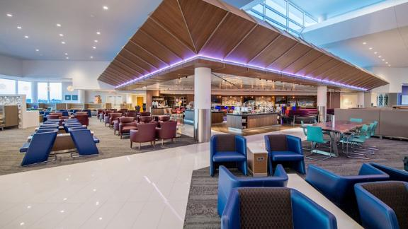 Use your Platinum Card to visit the Delta Sky Club in Atlanta