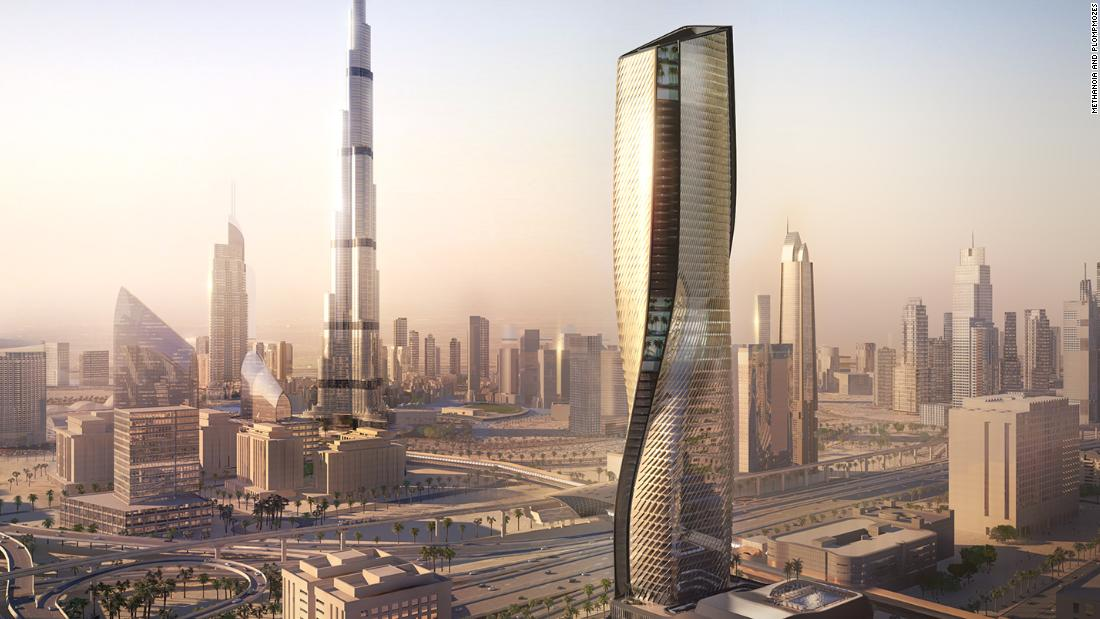 The supertall ceramic tower that