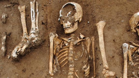 The remains of 48 people who were buried in a 14th century Black Death mass grave were found in England