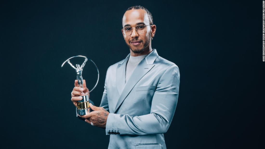 Lewis Hamilton calls for diversity and inclusivity after winning Laureus award