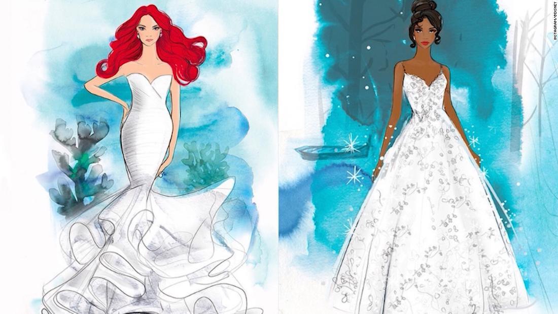 Disney präsentiert brautkleider inspiriert von Cinderella, Belle und andere Prinzessinnen