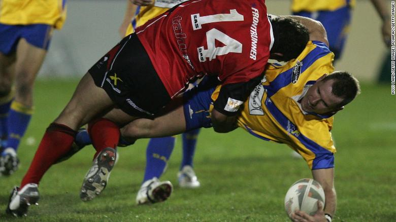 Rowan Baxter is tackled during the NZRL National Premiership Bartercard Cup Grand Final in 2006.