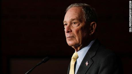 Democratic presidential candidate Mike Bloomberg holds a campaign rally on February 4, 2020 in Detroit, Michigan.