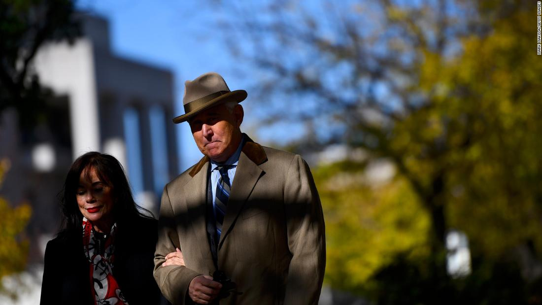 Trump implies he's ready to grant clemency to Roger Stone