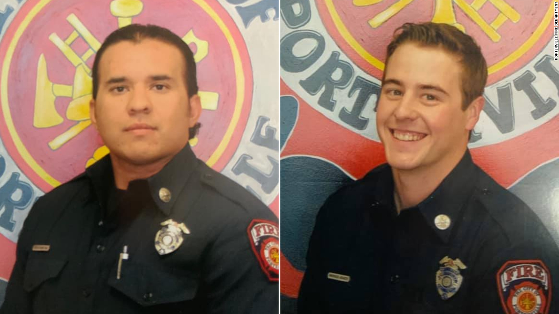 Two firefighters died battling a library fire. Two teens are accused of arson and manslaughter