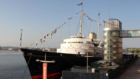 EDINBURGH, SCOTLAND - JULY 29: A general view of the Royal Britannia during the pre wedding party hosted by Zara Phillips and Mike Tindall on the Britannia on July 29, 2011 in Edinburgh, Scotland.   The Queen's granddaughter Zara Phillips will marry England rugby player Mike Tindall at Canongate Kirk on Saturday. Many royals are expected to attend including the Duke and Duchess of Cambridge.  (Photo by Chris Jackson/Getty Images)