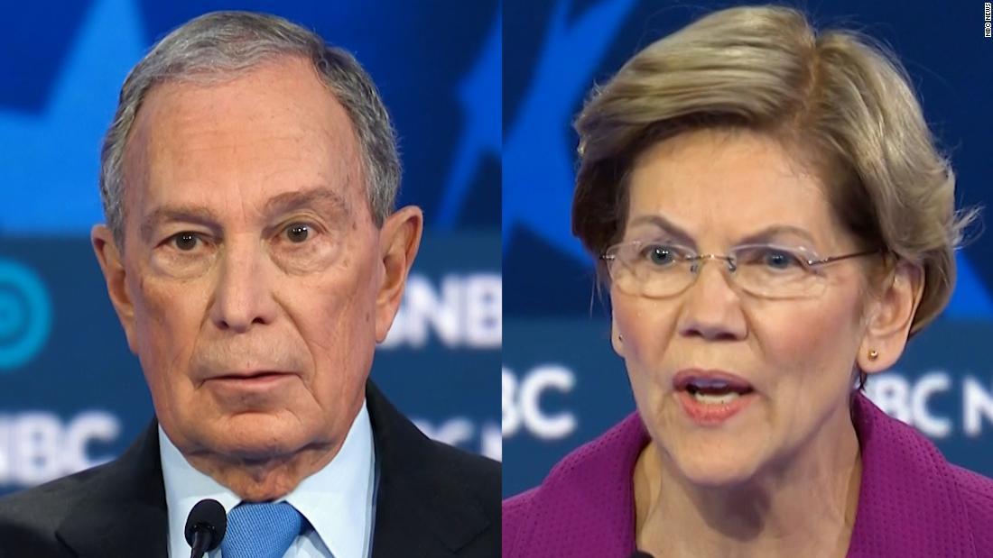 Warren Bloomberg Angriff zieht hörbar Reaktionen vom Publikum