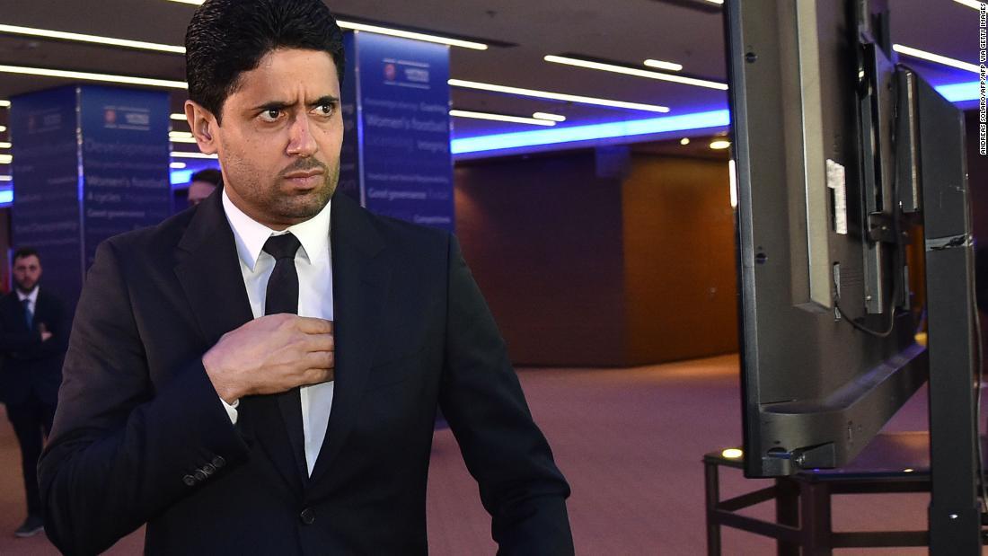 Nasser Al-Khelaifi is president of Paris Saint-German soccer club in France.