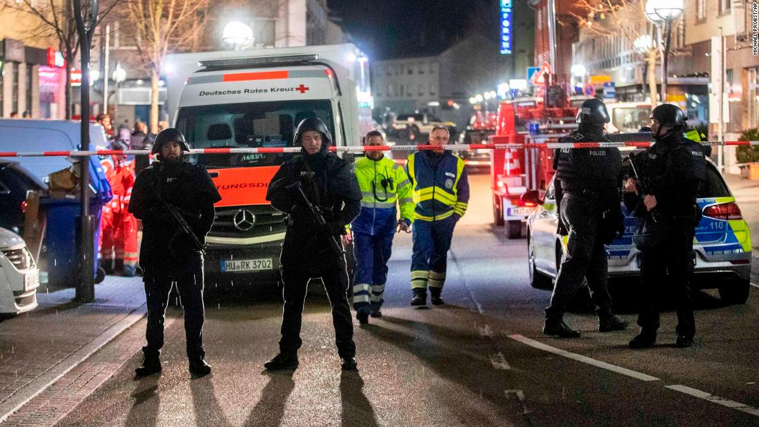 Nine killed at two shisha bars in Germany in suspected far-right attack