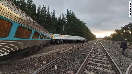 The train derailed north of Melbourne on Thursday evening.