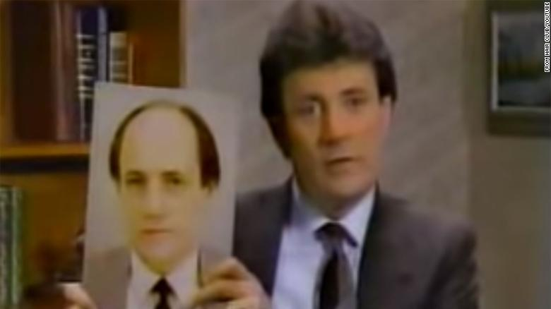 Sy Sperling in a Hair Club for Men TV ad.