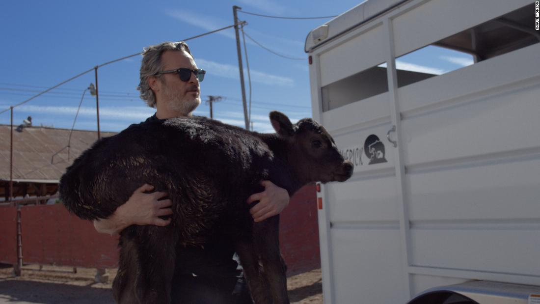 Joaquin Phoenix rescued a calf and its mother from a slaughterhouse days after Oscar speech