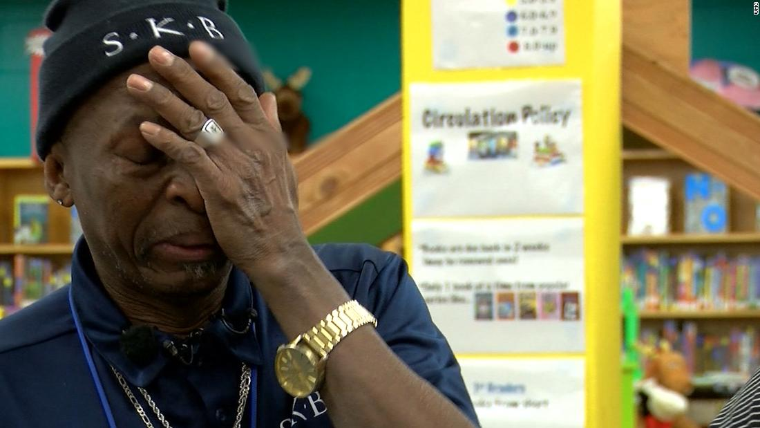 Kind gesture moves school custodian to tears