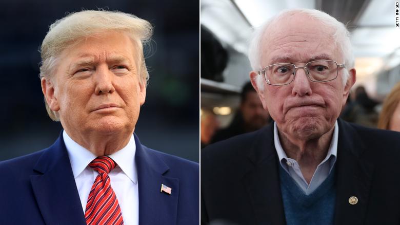 2020 election: Trump congratulates Bernie Sanders on Nevada ...