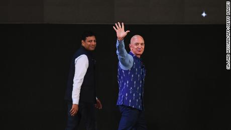 Bezos' second visit to New Delhi, in January this year, did not include an audience with Modi.