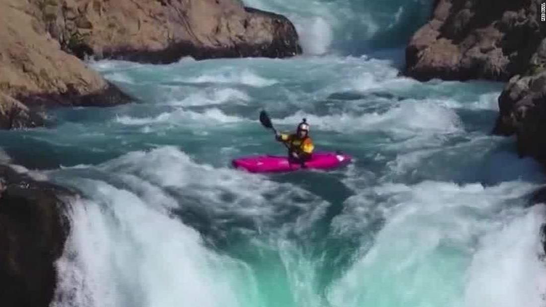 Like 'falling off the face of the earth,' says kayaker Dane Jackson after dropping down 134-foot waterfall