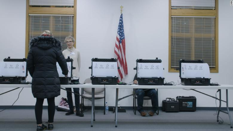 Voters made their selections on digital tablets, then saved them to a separate machine where they were secured and tallied using ElectionGuard.