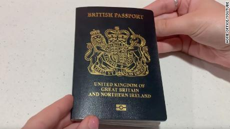 The front cover of the new passport.