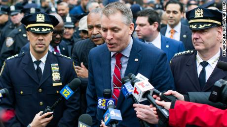 New York City Police Commissioner Dermot Shea, seen here in New York earlier this month, described the changes to the department's DNA collection and storage policies as common sense.