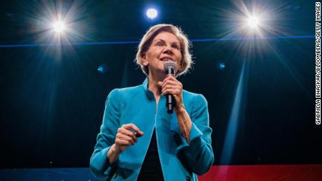 Senator Elizabeth Warren, a Democrat from Massachusetts and 2020 presidential candidate, speaks on stage during a campaign event in the Brooklyn Borough of New York, U.S., on Tuesday, Jan. 7, 2020.