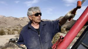'Mad' Mike Hughes prepares the mobile home that will act as his rocket launcher in his roadside launch area near Amboy, California, USA 27 November 2017. Hughes will launch his steam-powered rocket in an attempt to prove that the earth is flat. The US Federal Bureau of Land Management put the original launch on hold prompting Hughes to relocate his launch area to private land.