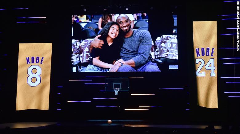 Gianna Bryant and Kobe Bryant are honored during the In Memoriam onstage during the 51st NAACP Image Awards, Presented by BET.